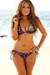 Vegas Purple & Gold Triangle Top & Single Rise Scrunch Bottom Sexy Sequin Bikini