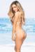 Vegas Champagne & Blush Triangle Top Micro Rise Scrunch Bun® Sexy Sequin Bikini