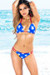 Belize Reversible Red, White & Blue Star Print Single Rise Sexy Patriotic Bikini