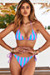 Pink & Blue Stripes Triangle Top & Pink & Blue Stripes Full Coverage Scrunch Bottom