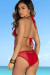 Jonquil Red Sexy Crochet Fishnet One Piece Monokini