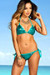 Vegas Jade Triangle Top & Single Rise Scrunch Bottom Sexy Sequin Bikini