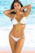São Paulo Solid White Triangle Bikini Top & Sexy Thong Bikini Swimsuit