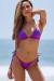 Purple Triangle Top & Purple Brazilian Thong Bottom