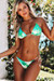 Blue Green Shimmer Triangle Top & Blue Green Shimmer Brazilian Thong Bottom