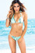 Belize Reversible Swimwear Mint & Mint Brushstroke Print Sexy Single Rise Bikini