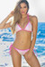 Vegas Pink Triangle Top Single Rise Scrunch Bun® Sexy Sequin Bikini