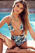 Waikiki Tropical Palm Print Triangle Top & Scrunch Bottom Retro Sexy High Waist Bikini