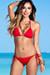 Surfside Solid Red Triangle Top Single Rise Sexy Scrunch Bun® Bikini