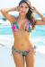 Honolulu Tropical Triangle Top & Single Rise Scrunch Bottom Sexy Print Bikini