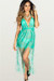 Sweet Dream Mint Lace Fringe Halter Beach Dress Cover Up