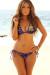 Purple & Gold Sequin Triangle Top & Purple & Gold Sequin Classic Scrunch Bottom Sexy Sequin Bikini