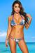 Tahiti Reversible Orchid & Teal Paisley Print Sexy Micro Bikini Swimsuit
