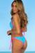 Laguna Aqua Polka Dot & Neon Pink Classic Bikini Top & Panama Aqua Polka Dot & Neon Pink Classic Bikini Bottom