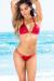 Tahiti Patriotic Stars & Red Shimmer Double Strap Reversible Bikini Top & Acapulco Patriotic Stars & Red Shimmer Double Strap Reversible Bikini Bottom
