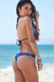 Ibiza Brazilian Cut Dreamcatcher Feather Print Triangle Top Sexy Thong Bikini