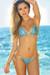 Seychelles Royal & Gold Sparkly Mermaid Bikini Top & Single Rise Scrunch Bottoms