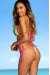 Chile Neon Green & Pink Sexy Triangle Top Polka Dot G-String Thong Bikini