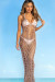 Ballantine's Rose Gold Metallic Maxi Dress Cover Up