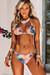 Watercolor Palm Tree Print Triangle Bikini Top & Watercolor Palm Tree Print Full Coverage Scrunch Bottom