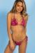 Laguna Berry Fern Classic Bikini Top & Venice Berry Fern Mid Rise Classic Bikini Bottom