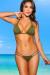 Tahiti Reversible Olive Green & Versache Print Sexy Micro Bikini Swimsuit