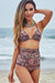 Waikiki Versache Print Triangle Top & Scrunch Bottom Retro Sexy High Waist Bikini