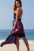 """""""Bahama Mama"""" Royal Boho Print Beach Dress"""