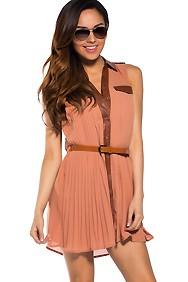 Collar button down dress